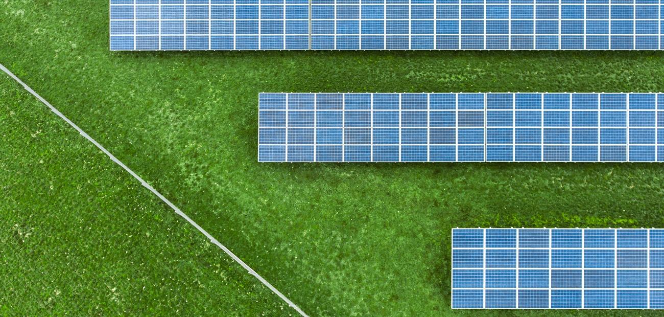 Solar Plant Aerial Shot