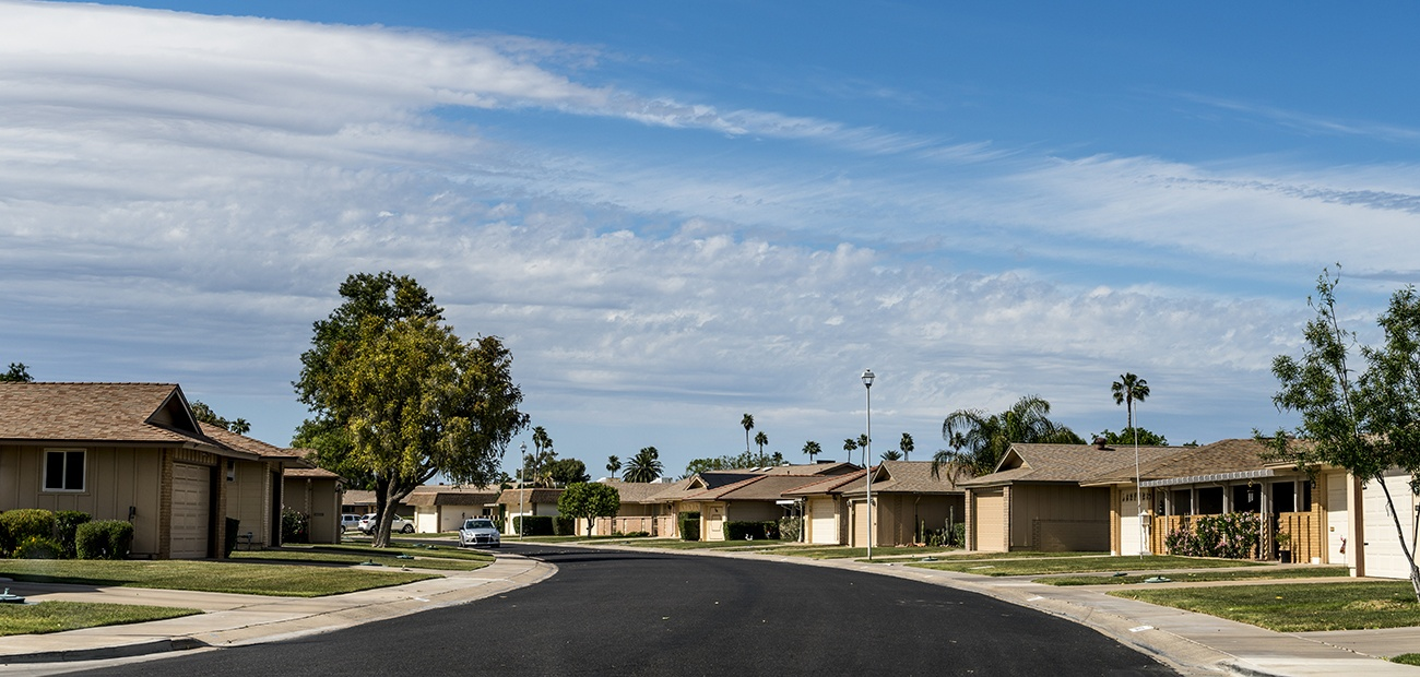 Suburban neighborhood in Arizona