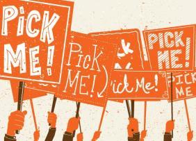 Pick Me Orange Signs