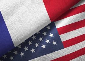 American French Flag Split