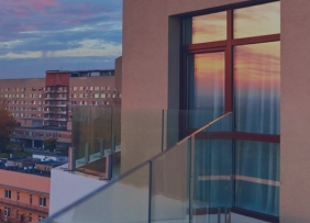 Apartment Balcony Dusk