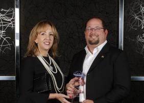 Sandra Miller and Chip Ahlswede, CEO
