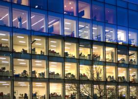 Commercial Offices at Night