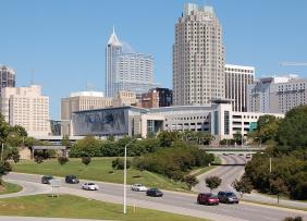 View of Dowtown Raleigh from Western Boulevard Overpass