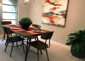 Dining Room table with painting