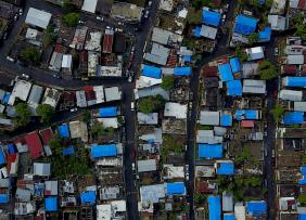 Aerial shot of homes in Puerto Rico