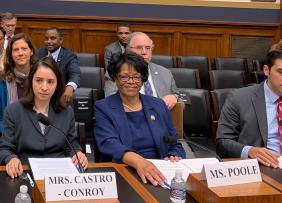 REALTOR® JoAnne Poole giving congressional testimony on minority homeownership