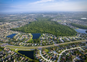 Aerial view of Kissimmee, Florida
