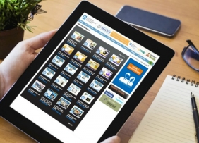 Tablet listing online courses