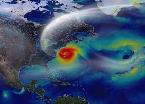 North America satellite hurricane image
