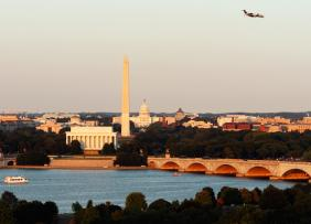 Plane over Washington DC