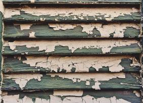 peeling paint on shutters