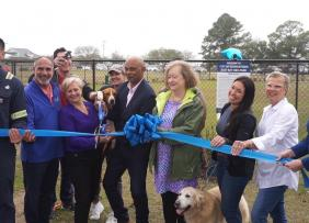 Ribbon cutting ceremony for the dog park at the East Bay Park in the City of Georgetown, SC