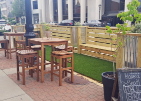 Parklet in Springfield, IL funded with NAR's Placemaking Grant
