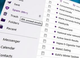 Spam Email Inbox