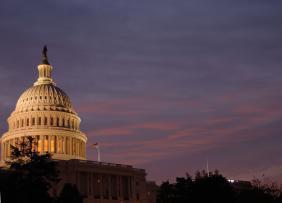 US Capitol at Dawn - Landscape Left