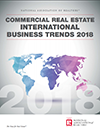 Cover of the 2018 Commercial Real Estate International Business Trends report