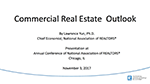 Cover image of Lawrence Yun's presentation slides from the November 2017 Commercial Real Estate Issues & Trends Forum
