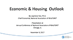 Cover image of Lawrence Yun's presentation slides from the November 2017 Residential Real Estate Issues & Trends Forum