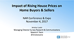 Cover image of Jessica Lautz's presentation slides from her November 2017 talk about the impact of rising house prices
