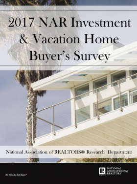 Cover of the 2017 Investment and Vacation Home Buyers Survey
