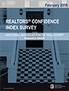 Cover of the February 2018 issue of the REALTORS® Confidence Index report