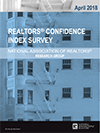 Cover of the April 2018 REALTORS® Confidence Index report