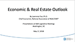 Cover of Lawrence Yun's May 2018 slides on the commercial real estate outlook