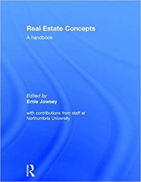 Real Estate Concepts A Handbook by Ernie Jowsey