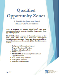 Download the Qualified Opportunity Zones Toolkit (PDF: 255KB)