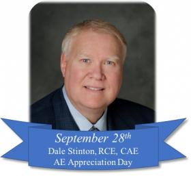 Dale Stinton, RCE, CAE Honoree photo for 2019 AE Appreciation Day