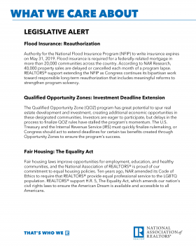 Download the Legislative Alert for Your Hill Visits