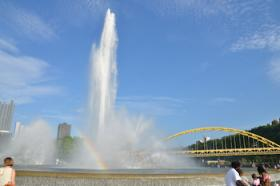 Point State Park in downtown Pittsburgh