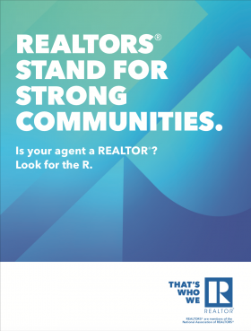 REALTORS® Stand for Strong Communities