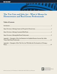 The Tax Cuts and Jobs Act - What it Means for Homeowners and Real