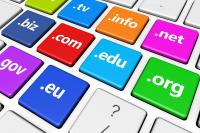 Domain Names on Keyboard