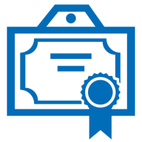 Award certificate icon