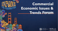 Cover of Lawrence Yun's presentation slides: Commercial Economic Issues & Trends Forum