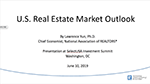 Cover of slide deck: U.S. Real Estate Market Outlook